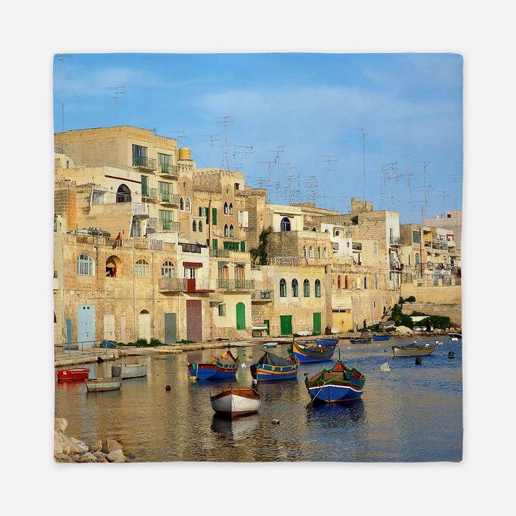 Saint Julian's Bay in Malta Queen Duvet