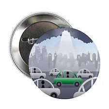 """Sunbeam falling on a green car among  2.25"""" Button"""
