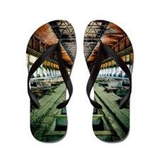Ruined Factory Abandoned Industry Inter Flip Flops
