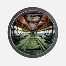 Ruined Factory Abandoned Industry Inter Wall Clock