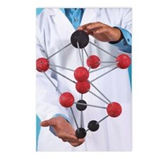 Holding chemistry model Postcards (Package of 8)