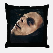 Scary man surfacing from water Throw Pillow