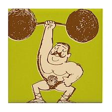 Strongman Lifting Barbell Tile Coaster