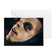 Scary man surfacing from water Greeting Card