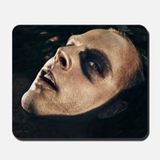 Scary man surfacing from water Mousepad