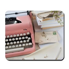 Letters by antique typewriter Mousepad
