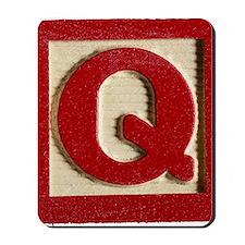 Letter Q Mousepad