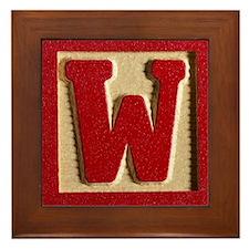 Letter W Framed Tile