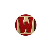 Letter W Mini Button