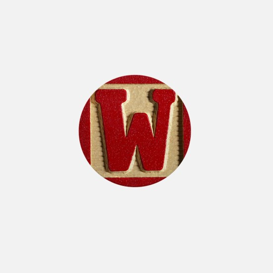 Letter W Mini Button