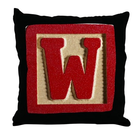 Letter P Throw Pillow : Letter W Throw Pillow by Admin_CP66866535
