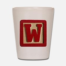 Letter W Shot Glass