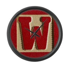Letter W Large Wall Clock