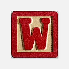 """Letter W Square Sticker 3"""" x 3"""""""
