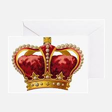 Vintage Royal Crown of Gold Greeting Card