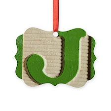 Letter J Ornament