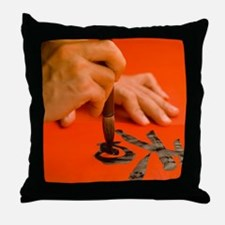 Painting Chinese characters Throw Pillow