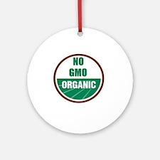 No Gmo Organic Round Ornament