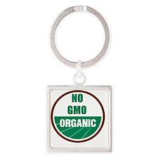 No Gmo Organic Square Keychain
