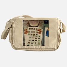 Photo editor choosing slide photogra Messenger Bag