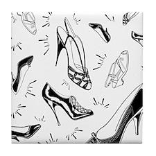 Ladies Shoe Pattern Tile Coaster