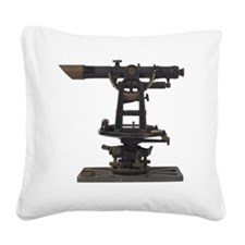 old-fashioned theodolite Square Canvas Pillow