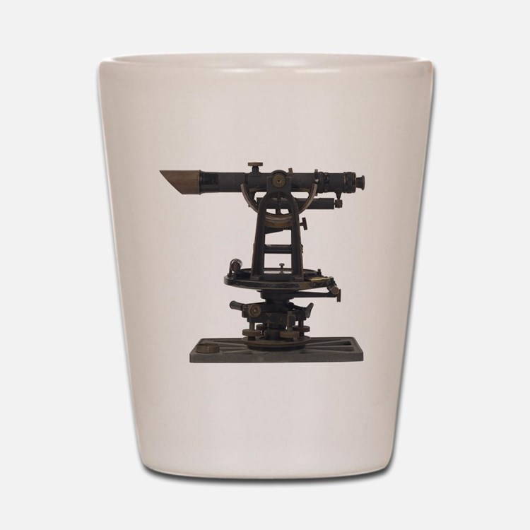 old-fashioned theodolite Shot Glass