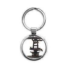 old-fashioned theodolite Round Keychain