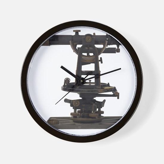 old-fashioned theodolite Wall Clock