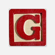"Letter G Square Sticker 3"" x 3"""
