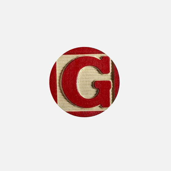 Letter G Mini Button