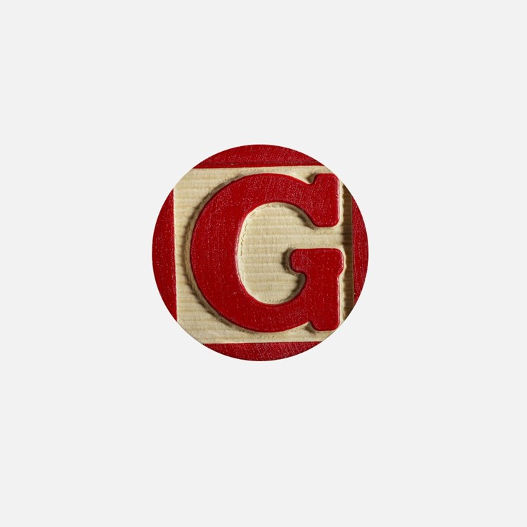 Letter G Mini Button