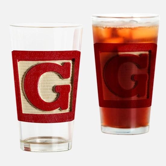 Letter G Drinking Glass