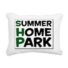 SHP Green Logo Rectangular Canvas Pillow
