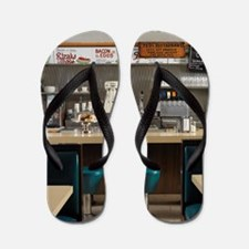 Interior of Diner Flip Flops