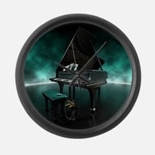Piano with electronically console Large Wall Clock