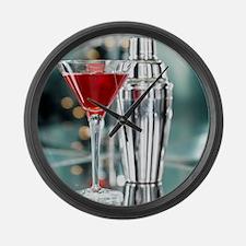 Red Martini Large Wall Clock