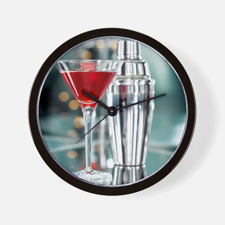 Red Martini Wall Clock