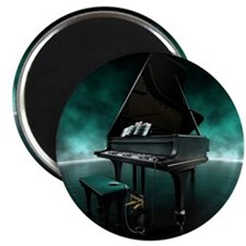 Piano with electronically console, illustra Magnet
