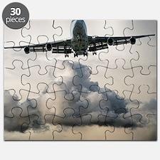 jumbo jet airplane landing in storm Puzzle