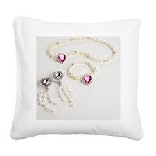 Plastic jewellery Square Canvas Pillow