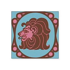 "Leo Zodiac Symbol Square Sticker 3"" x 3"""