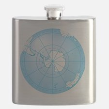 Illustration of Antarctica on globe Flask