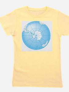 Illustration of Antarctica on globe Girl's Tee