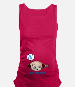 Funny Baby peeking Maternity Tank Top