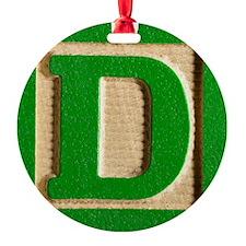 Letter D Ornament