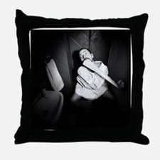 Mental patient in the psychiatric Throw Pillow