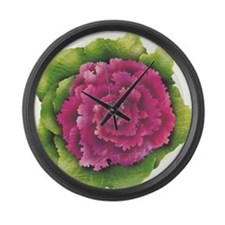 An ornamental cabbage Large Wall Clock
