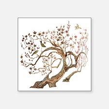"A cherry blossom tree with  Square Sticker 3"" x 3"""