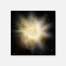 "Digital Illustration of a S Square Sticker 3"" x 3"""